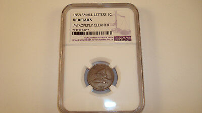 1858 Flying Eagle 1C Small Letters - NGC XF Details: Improperly Cleaned (#RR15)