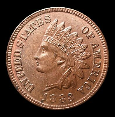 MS 1883 Indian Head Cent- Brown BN - Minor Rose Toning- Beautiful Coin!