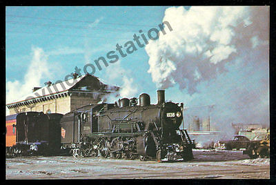 Milwaukee Road Ten Wheeler #1038 steam locomotive train railroad postcard