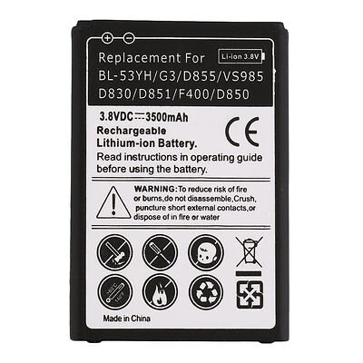 2800mAh Secondary Li-Ion Battery Replacement for LG BL-53YH/G3/D855 New OE