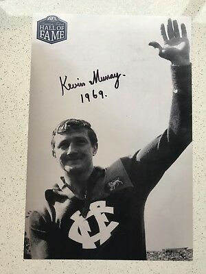 Afl Hall Of Fame - Kevin Murray - Fitzroy - Signed Photo