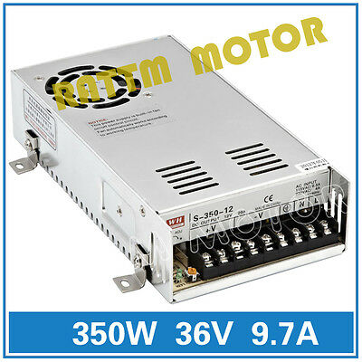 New 350W 36V 9.7A DC Switch Power Supply Single Output for CNC Router/3D Printer