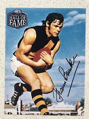 Afl Hall Of Fame - Francis Bourke - Richmond - Signed Photo