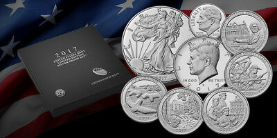 2017 U.S. Mint Limited Edition Silver Proof Set with S Mint Proof Silver Eagle