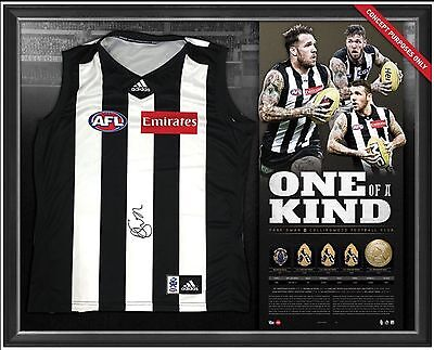 Dane Swan Signed & Framed Collingwood One Of A Kind Official Retirement Jumper