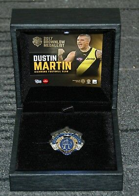 Dustin Martin 2017 Afl Brownlow Medallist Boxed Medallion With Led Light Display