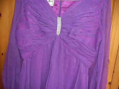 Vintage ladies purple ball gown 1960