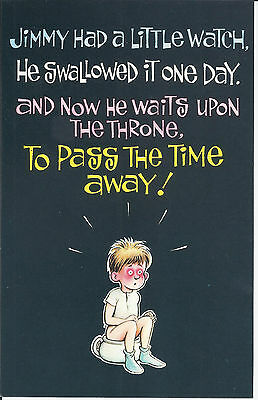Vintage 1970's Bamforth COMIC Postcard (as new condition) JIMMY on Throne #232