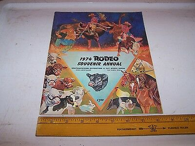 1974 RODEO Souvenir Annual Program FORT WORTH TEXAS Great Ads