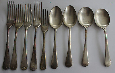 9 x Vintage Cutlery Spoons Forks R F Mosley Grosvenor Plate EPNS A1 Silver Plate
