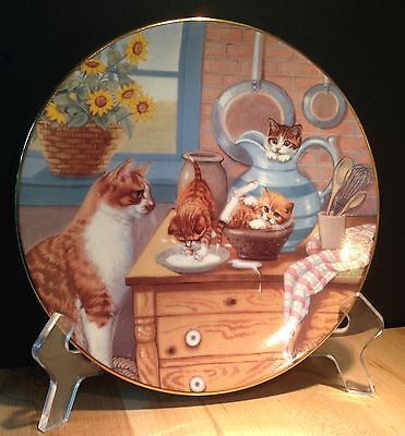 Country Kitties 'Table Manners' by Gre' Gerardi 1988 Hamilton Plate Collection