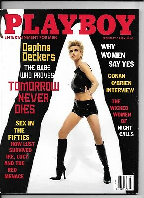 Back Issue February 1998 Playboy ~ Daphne Deckers Cover ~ VERY FINE/NEAR MINT