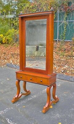 LOVELY  Satin wood Cheval mirror Biedermeier style
