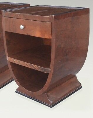 Art Deco style side table in Gorgeous Burl walnut side table