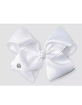 Jojo Siwa White Bow Hair Clip Large Signature Authentic Respect the Bow! 🎀