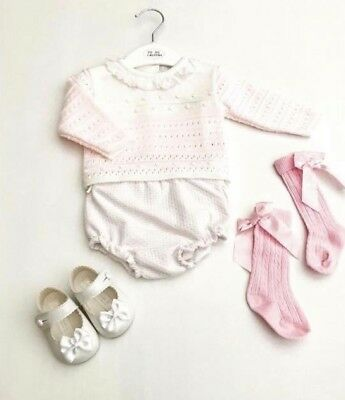 272b8dca1 BABY GIRLS KNITTED Jam Pants Set   Outfit - Traditonal Spanish Style ...