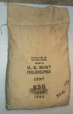 Unopened U.s Mint $50 Bag 1960-P Lincoln Cents Bu ( Brilliant Uncirculated!!! )
