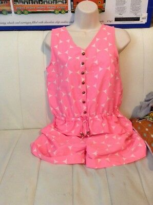 Next 13 Years Pink Playsuit Summer Holiday
