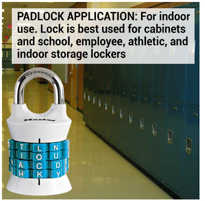 Master Lock Combination Padlock 1535DWD Access Control Equipment Color Vary NEW