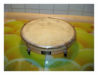SONOR LATINO HAND TROMMEL NATUR FELL STIMMBAR HOLZ TAMBOURIN vintage DRUM