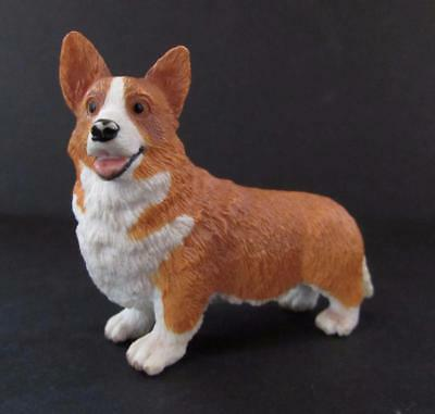 "Brown and White Corgi Dog Preschool Pretend Play Figure 2""H"
