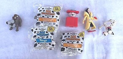 1991, McDonald's Happy Meal Toys, 101 Dalmatians (opened and unopened pieces)
