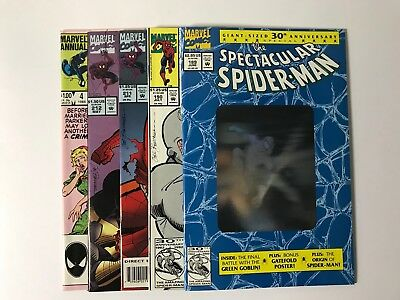 spectacular spider-man lot 189 190 211 212 a4 - very high grade - free shipping