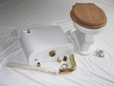 Antique Low Tank Toilet - Wolff Manuf. Co. - Tank, Bowl, Seat, and Hardware inc.
