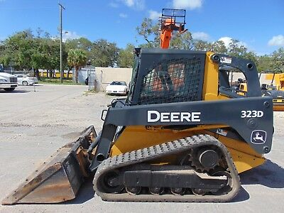 2012 John Deere 323D Turbo Track Loader - Enclosed Heated Cab - Excellent Tracks