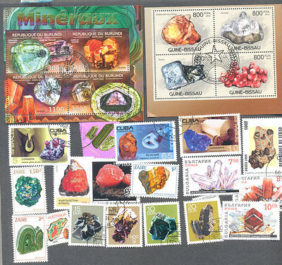 Minerals /Gemstones-100 all different stamp packet collection
