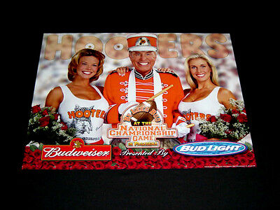 2001 Hooters Budweiser Beer Rose Bowl National Championship Poster Football sexy