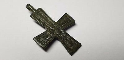 Medieval  Bronze Cross 10th,12the Century AD