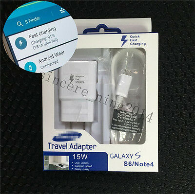 Original Adaptive Fast Wall Charger USB For Samsung galaxy S7 S6 Edge+ Note 5/4