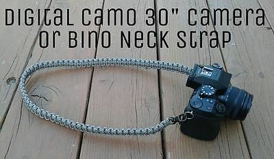 "30"" Paracord Binocular or Camera Neck Strap Digital Camo"