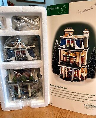 Dept 56 Dicken's Village Teaman & Crupp China Shop NR