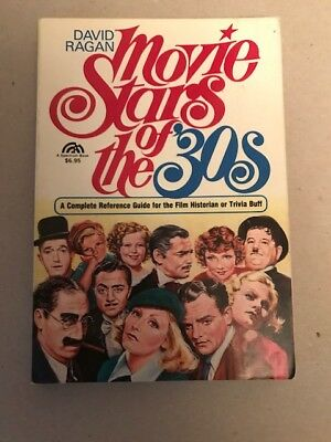 NR SALE OF VINTAGE BOOKS: MOVIE STARS OF THE 1930's. REFERENCE GUIDE (1985)
