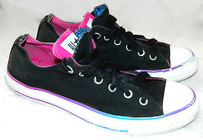 CONVERSE Chuck Taylor ALL STAR Shoes SNEAKERS Sz 10 MULTI-TONGUE Black Pink    1