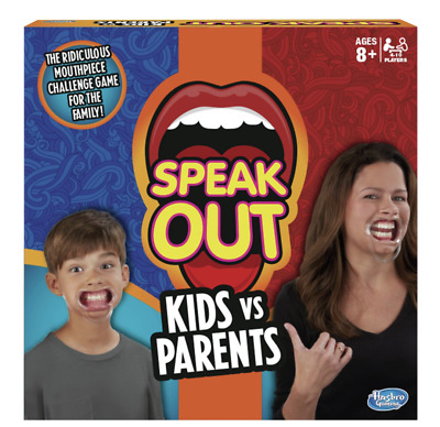 New Speak Out Kids Vs Parents Family Mouthpiece Challenge Fun Party Game Gift