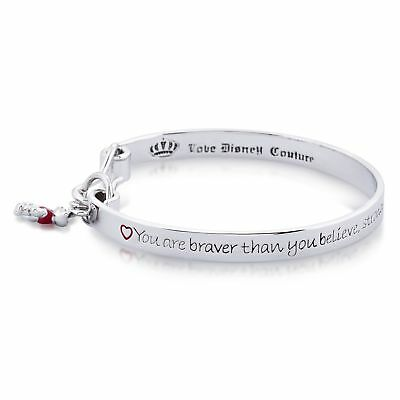 Disney White Gold-Plated Winnie the Pooh Engraved Bangle by Couture Kingdom