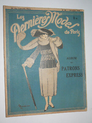 Les Dernieres Modes de Paris, 1918 French Fashion Magazine or Catalog