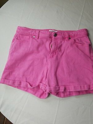 Cato's womans Hot Pink Short Jean Short Shorts Size 10
