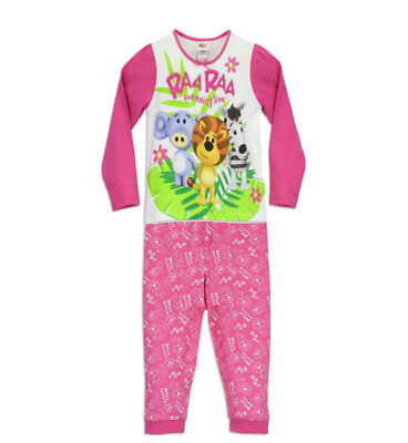 NEW! Girls Raa Raa The Noisy Lion Pyjamas,Pink/White,PJs,Age 4-5,Christmas Gift