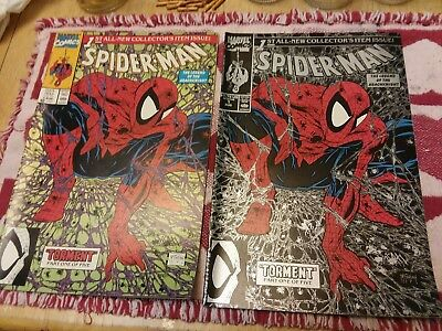 Spider-Man #1 Torment Silver and Green Cover Todd McFarlane