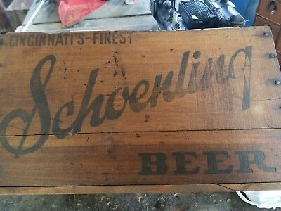 Schoenling  -- Wood Beer Crate -- Irtp -- Cincinnati, Ohio -- Very Cool Crate