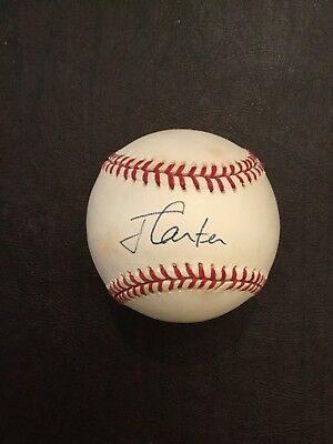 39Th President Jimmy Carter Signed Baseball