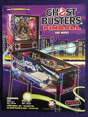 Autographed Stern Ghostbusters Pinball Flyer * Pro Edition * Free Shipping