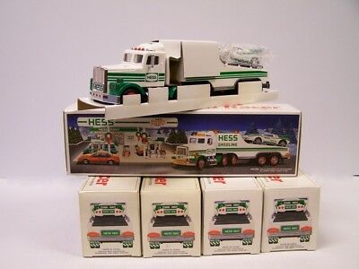 MINT LOT OF 5 Year 1991 Hess Toy Truck And Racer  **Free S&H**