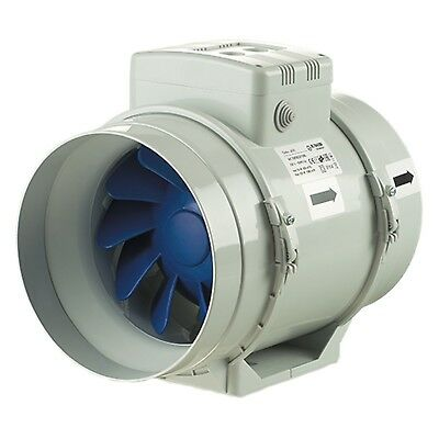 Blauberg UK TURBO-200-T Blauberg Turbo Mixed Flow in Line Extractor Fan with ...