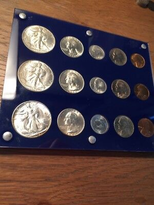 1946-pds Unc Mint Set Nice Plastic Holder