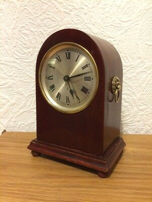 Vintage Mantel Alarm Clock by Gustav Becker